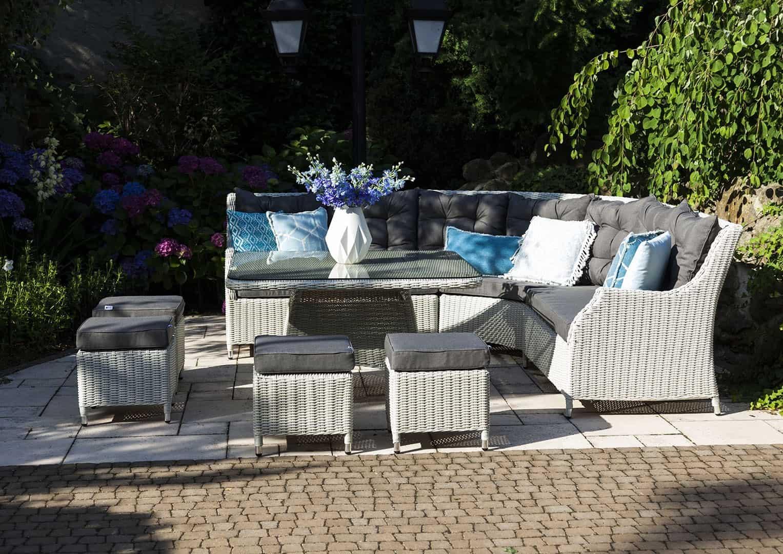 Zestaw mebli ogrodowych SIENA Royal biały