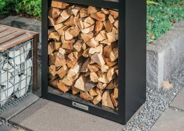 Paleniska ogrodowe: Pojemnik na drewno Basic Wood Storage