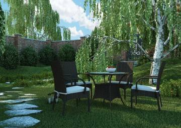 Krzesło ogrodowe TRAMONTO Royal brąz