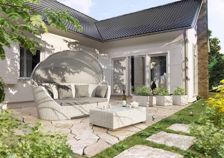 Sofa ogrodowa PORTOFINO Royal biały OUTLET
