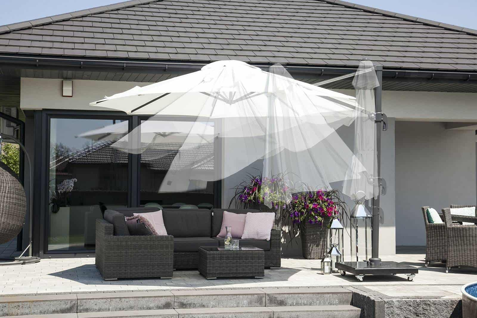 Parasol ogrodowy ​​​​​​Solarflex T² Ø3,5 Taupe GLOW OUTLET