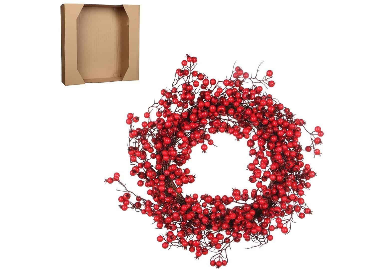 Wianek z czerwonymi jagodami Ø50cm