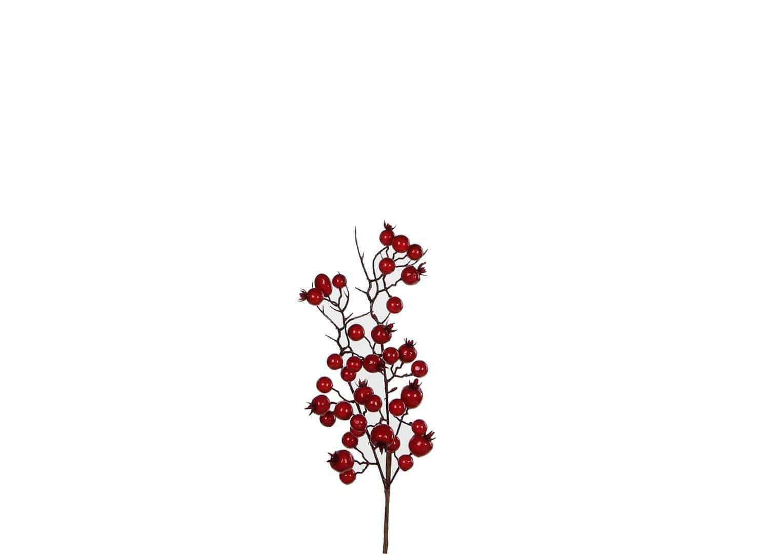 Gałązka czerwone jagody 33cm