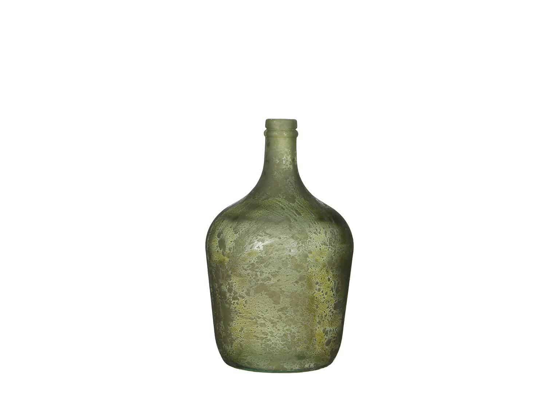 Szklana butelka Diego zielona 30cm