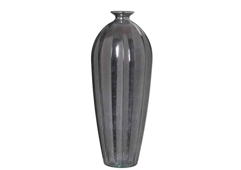 Szklany wazon Cello srebrny 56cm