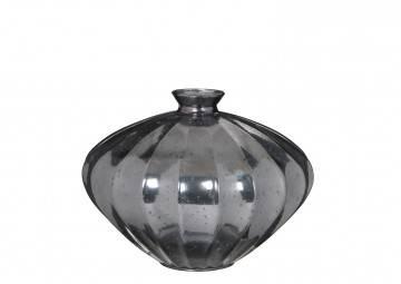 Szklany wazon Cello srebrny 28cm