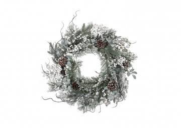 Śnieżny wianek dekoracyjny Ø50cm