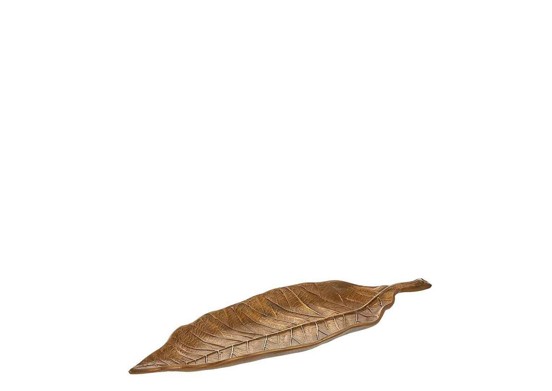 Patera miedziany liść 37cm
