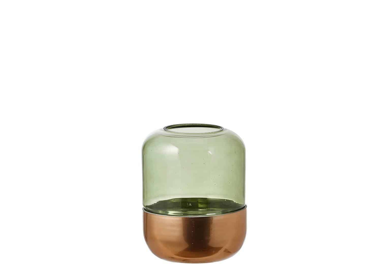 Lampion szklany Padborg ciemny zielony