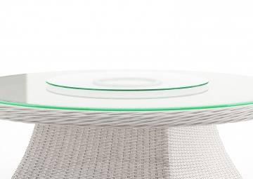 szklany blat obrotowy na RONDO ø180 cm