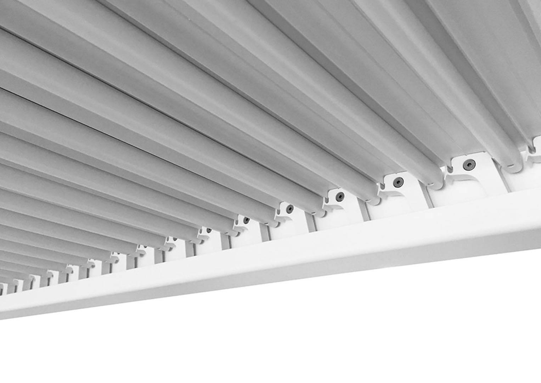 prekrytie terasy Maranza 720 cm v bielej farbe