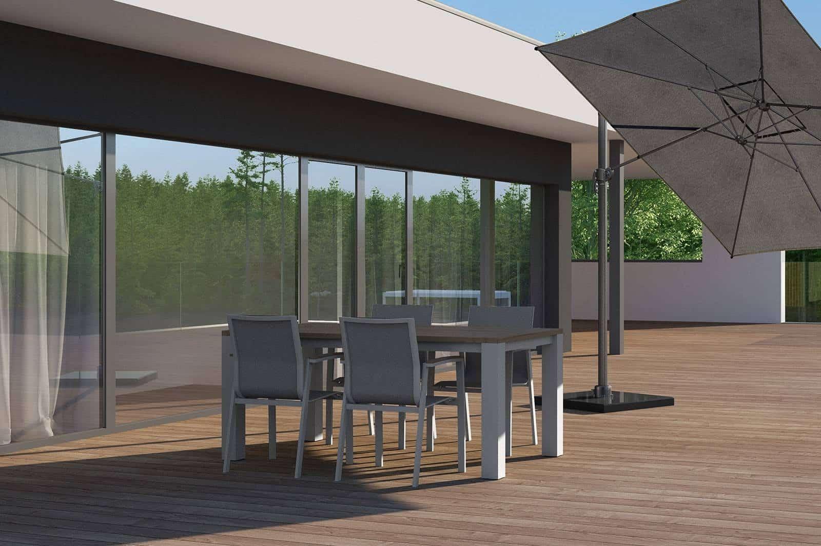 Stół ogrodowy MADRIT light grey