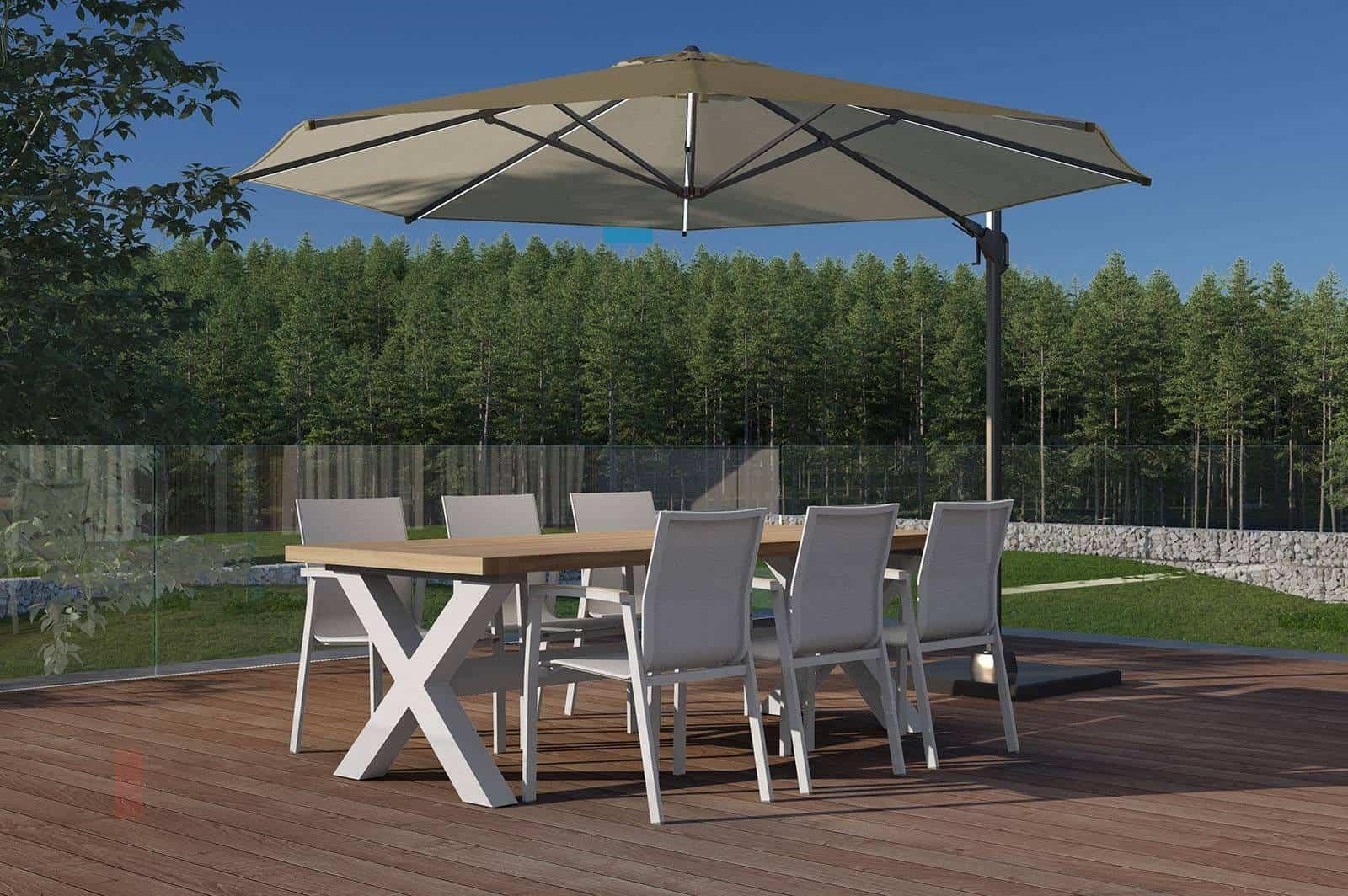 Stół ogrodowy BILBAO light grey