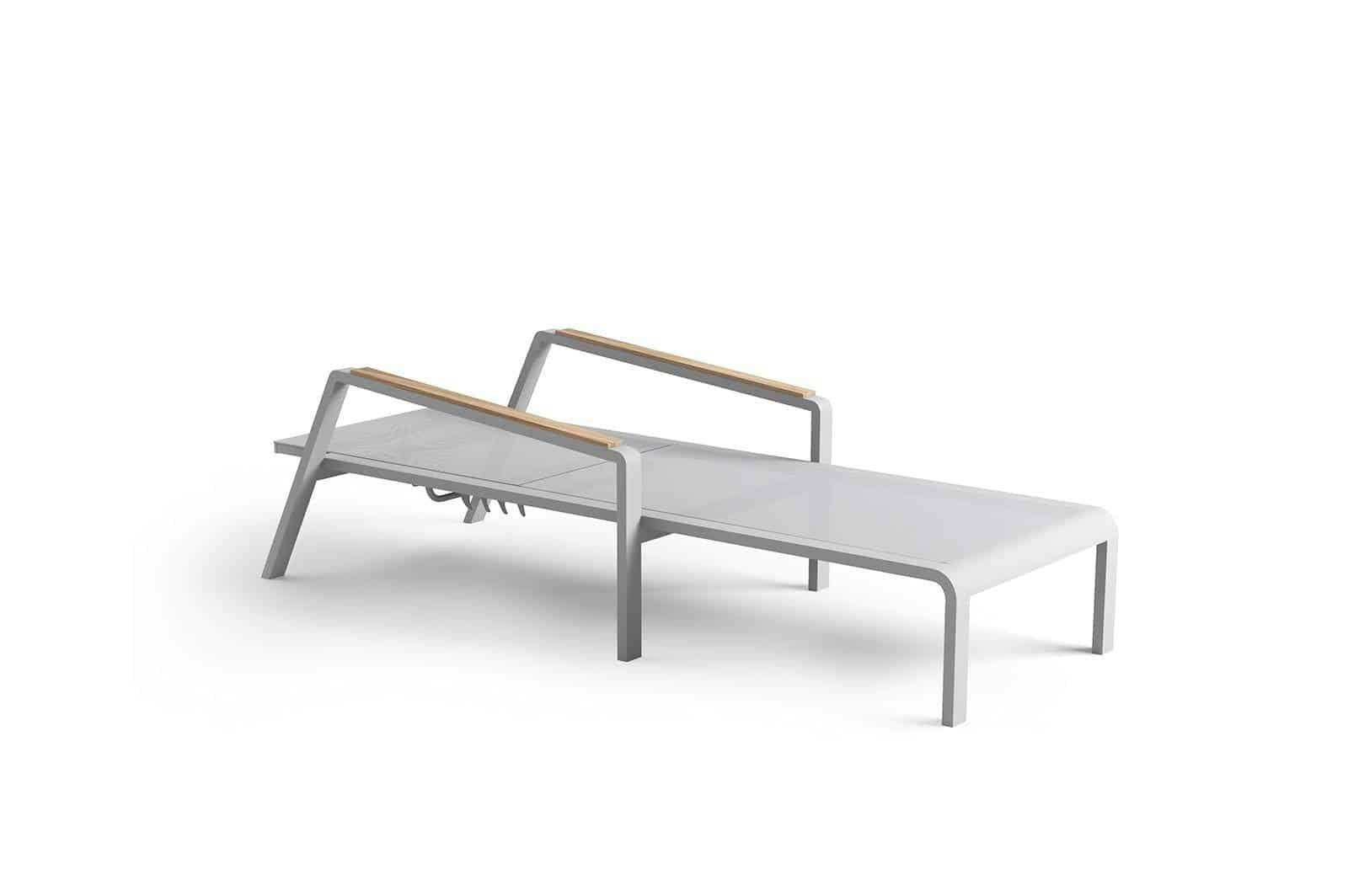 Leżak ogrodowy CORDOBA light grey