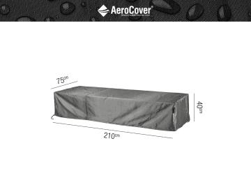 Leżak ogrodowy ALTEA light grey