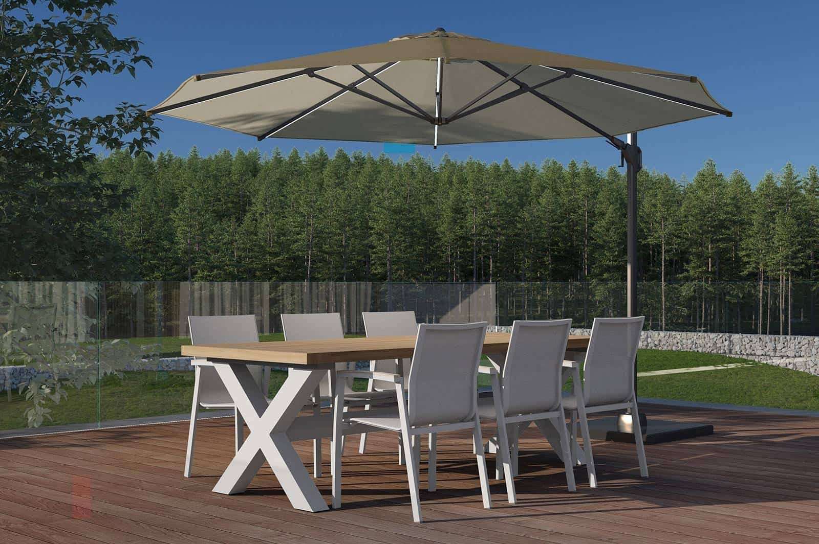 minimalistyczne meble ogrodowe BILBAO LEON