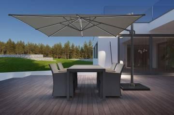 zestawy ogrodowe aluminiowe: Zestaw ogrodowy TOLEDO - MERIDA antracite