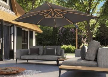parasol ogrodowy duży: Parasol ogrodowy Challenger T² Premium 3m x 3m Oak