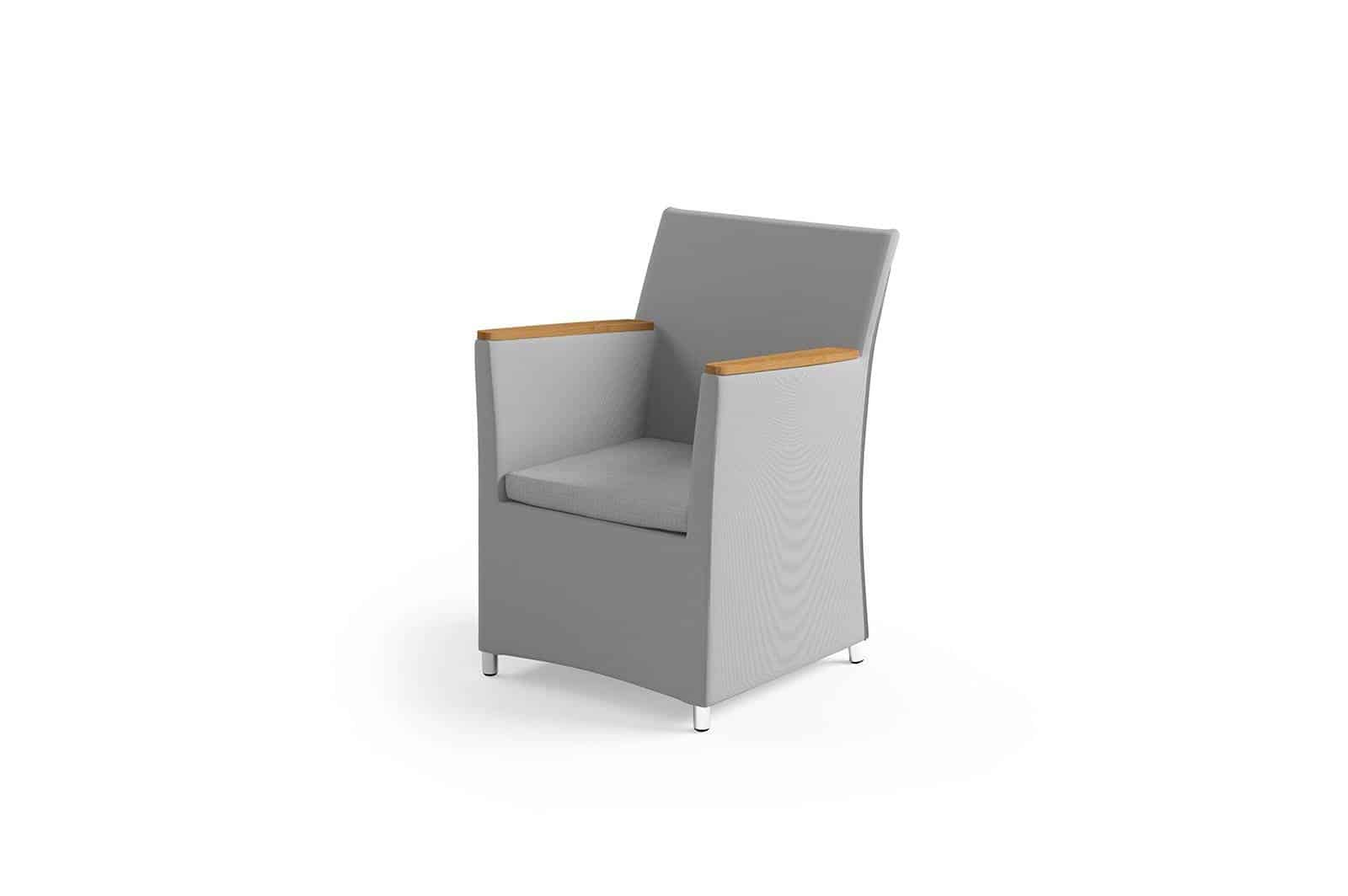 Fotel ogrodowy MERIDA teak light grey