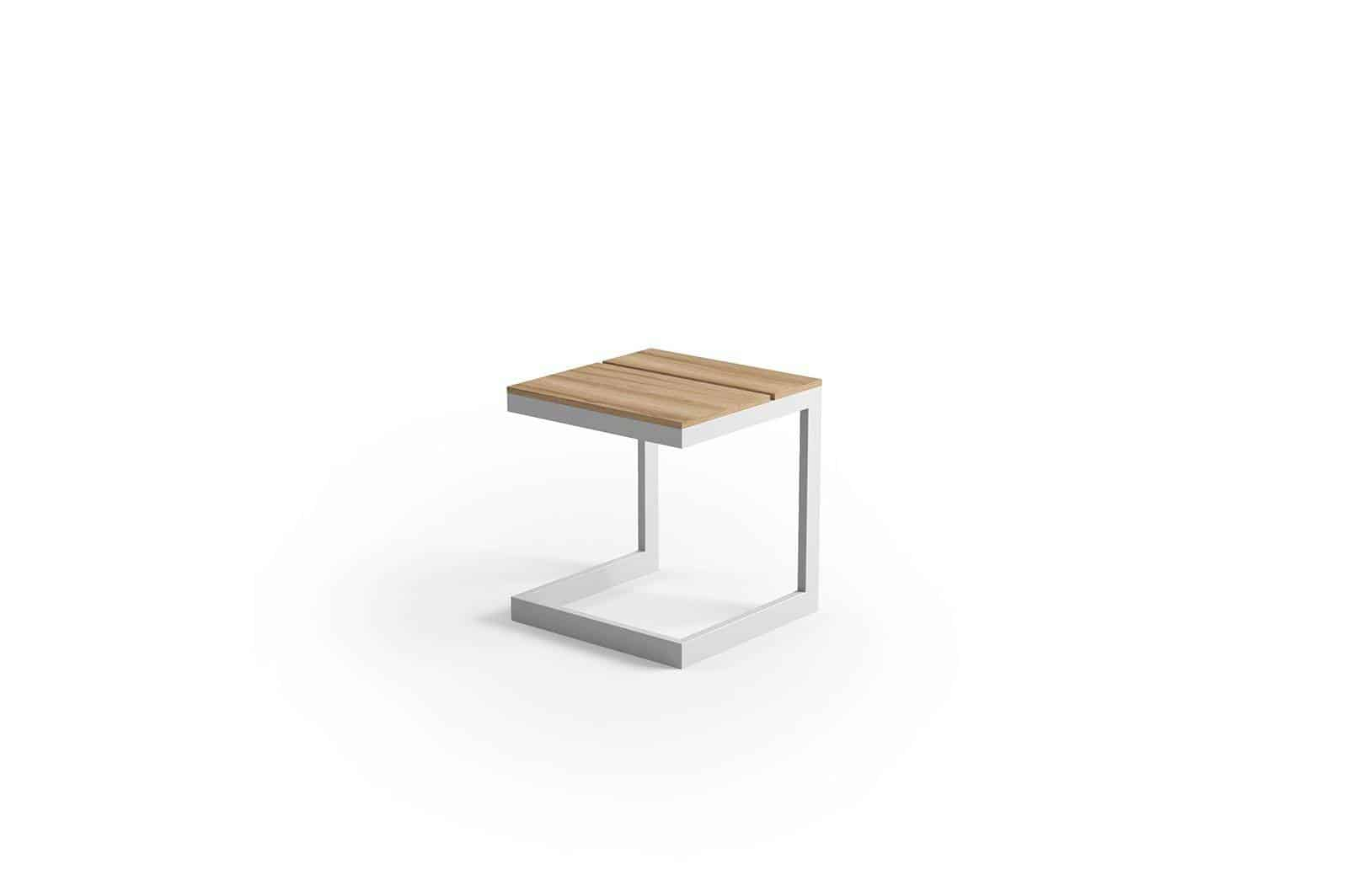 Stolik ogrodowy GRENADA teak light grey