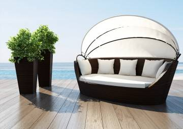 Sofa PORTOFINO modern brown