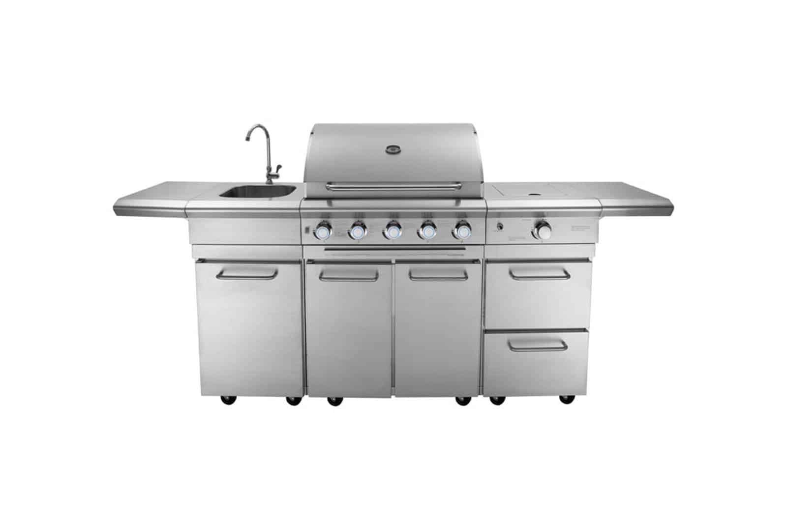 Grill ogrodowy gazowy - kuchnia BBQ TRAPANI PRO 5-palnikowa