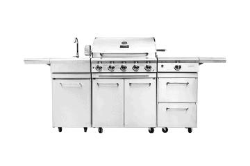 Grille ogrodowe: Grill ogrodowy gazowy - kuchnia BBQ TRAPANI PRO 5-palnikowa