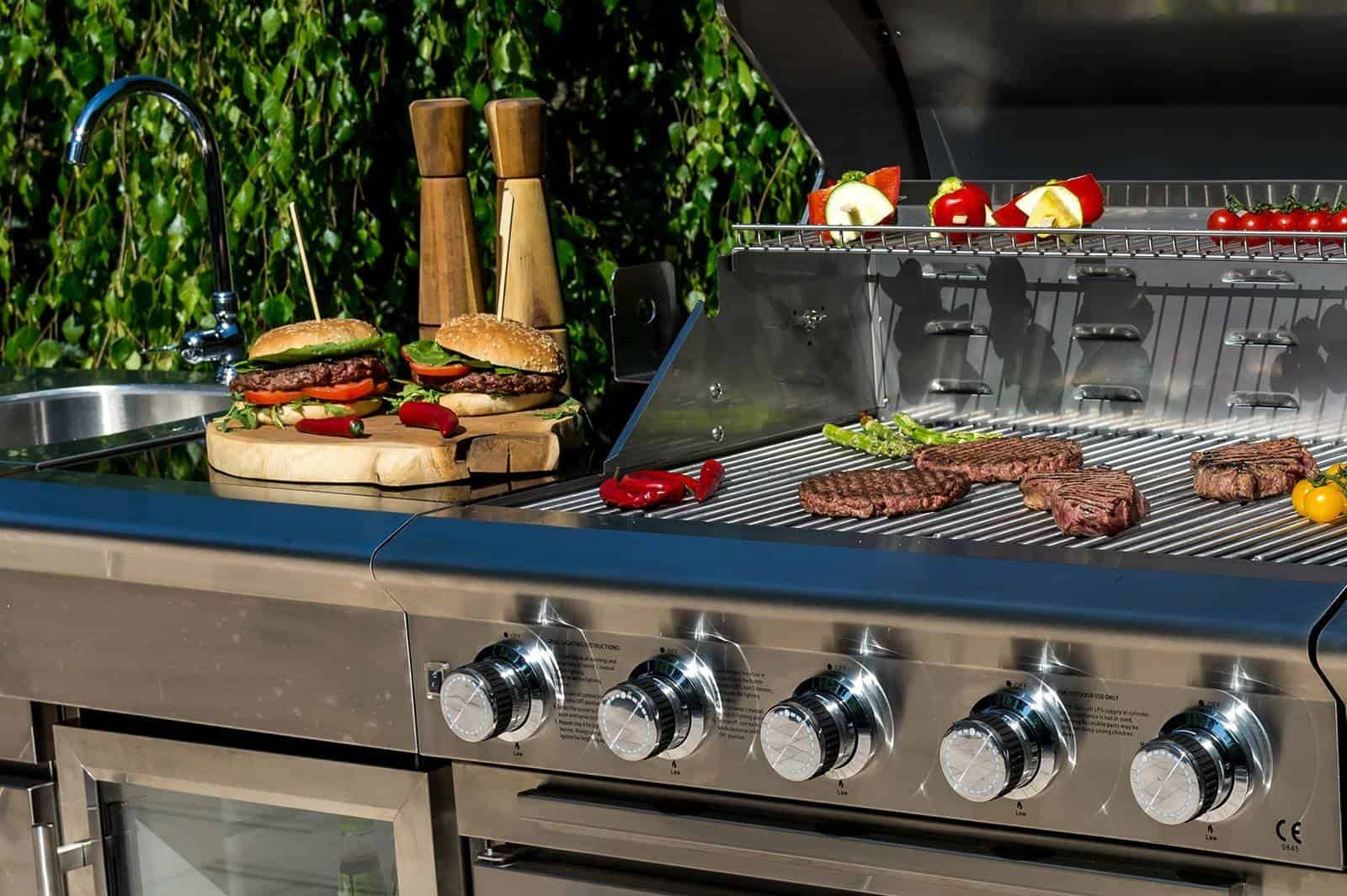 Grill ogrodowy gazowy - kuchnia BBQ SICILIA 5-palnikowa
