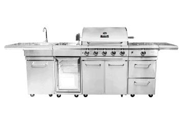 Grille ogrodowe: Grill ogrodowy gazowy - kuchnia BBQ SICILIA PRO 5-palnikowa