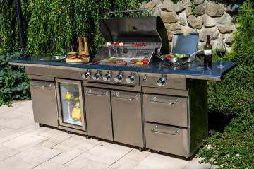 Grill ogrodowy gazowy - kuchnia BBQ SICILIA PRO 5-palnikowa