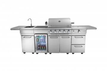 grill gazowy balkonowy: Grill ogrodowy gazowy - kuchnia BBQ SICILIA PRO 5-palnikowa