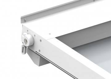 Zadaszenie tarasowe OMBRA 7x4m Manual antracyt/szary