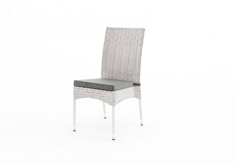 Zestaw RAPALLO royal white z krzesłami STRATO