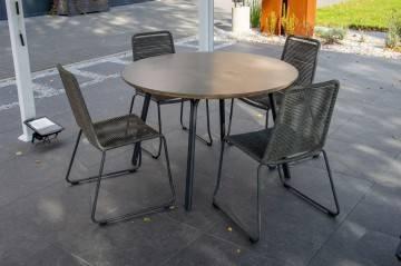 OUTLET: Zestaw ogrodowy SIMI Ø120 z krzesłami ELOS