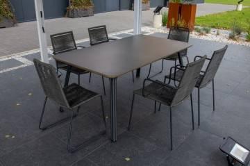 OUTLET: Zestaw ogrodowy SIMI 180 z krzesłami KEA/ELOS