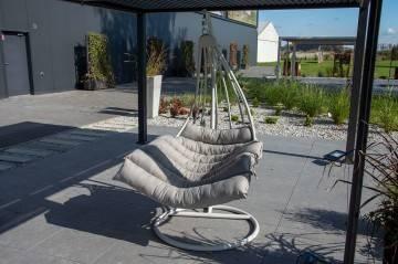 Fotel wiszący MALAGA light grey