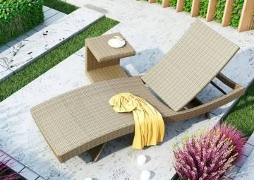 Leżak ogrodowy MARA royal sand