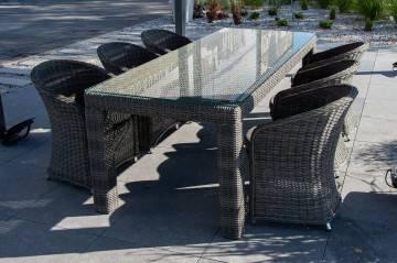 Zestaw ogrodowy RAPALLO royal grey z fotelami DOLCE VITA
