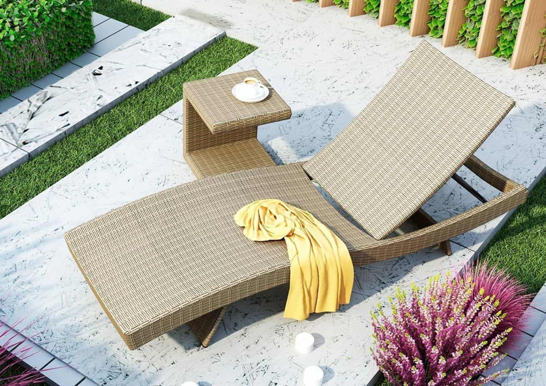 Stolik z technorattanu ROMEO royal sand