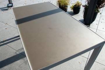 Meble ogrodowe TOLEDO light grey z krzesłami LEON teak 115