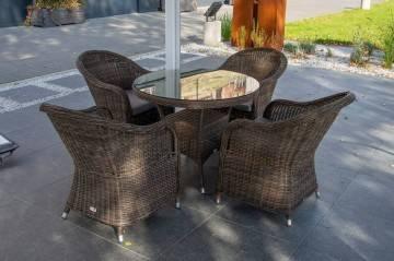 Zestaw ogrodowy FILIP II royal brown z fotelami LEONARDO 120
