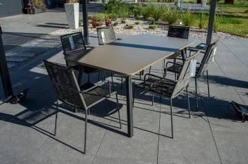 meble ogrodowe: Designerskie meble ogrodowe SIMI z krzesłami KEA 128