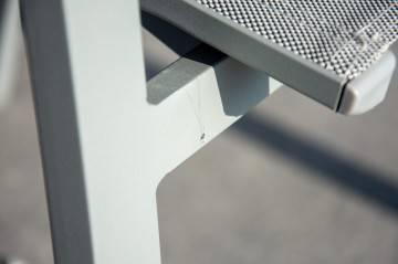 Meble ogrodowe TOLEDO grey z krzesłami LEON grey teak 143