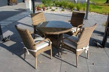 Stół FILIP II royal sand z krzesłami TRAMONTO