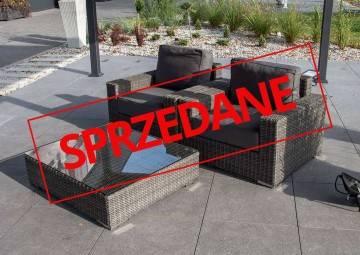 OUTLET: Zestaw mebli ogrodowych MILANO royal grey 156
