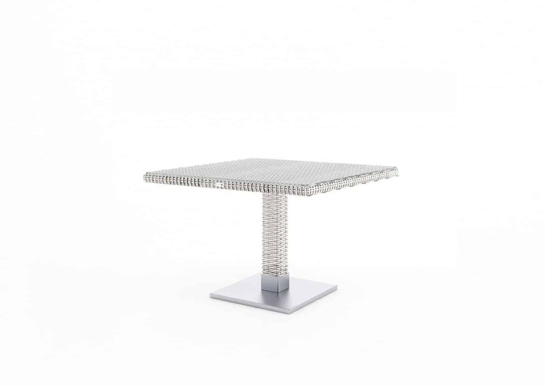 Komplet ogrodowy MILANO ze stolikiem QUADRO royal white 177