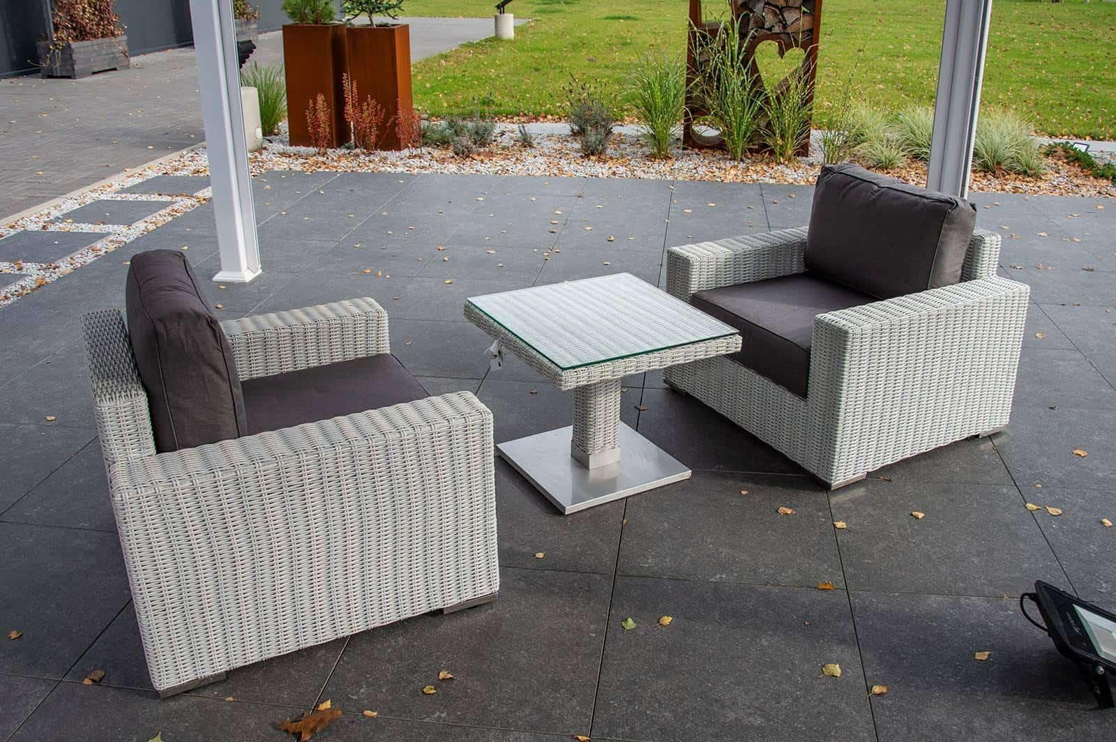 Komplet ogrodowy MILANO ze stolikiem QUADRO royal white 178