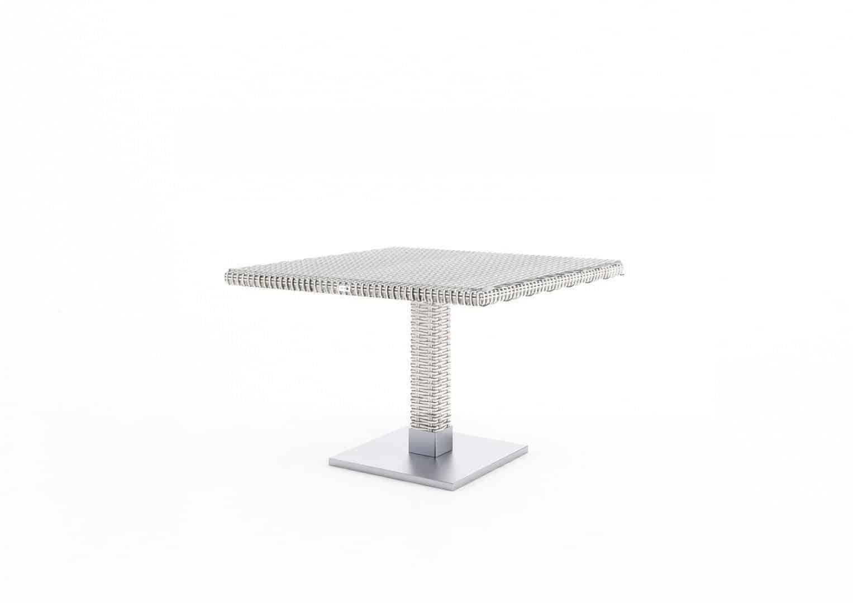 Komplet ogrodowy MILANO ze stolikiem QUADRO royal white 183