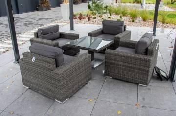 Zestaw ogrodowy z czterema fotelami i stolikiem QUADRO 203