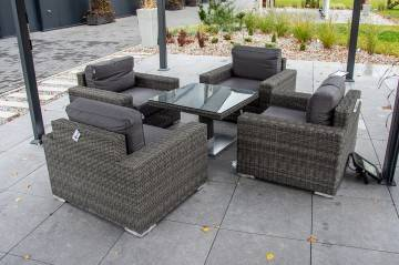 Meble ogrodowe MILANO ze stolikiem QUADRO 204